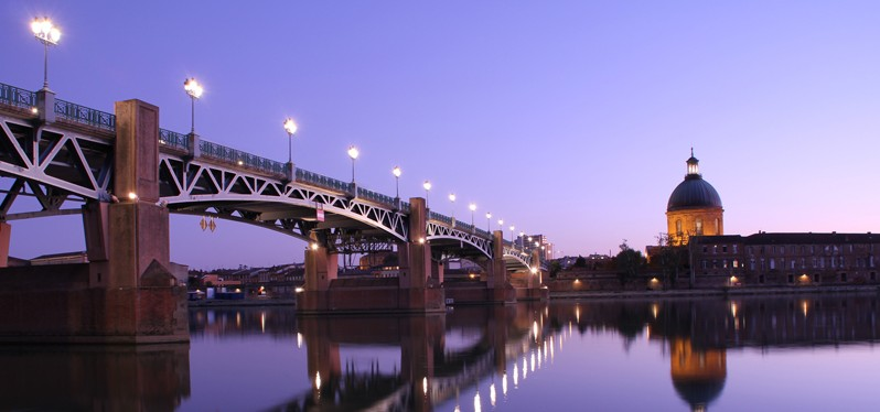 La Grave et pont Saint Pierre, Toulouse